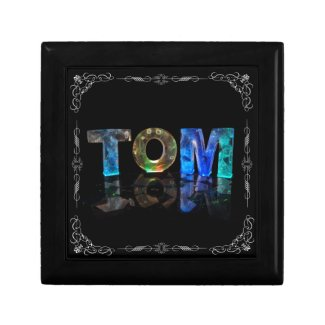 Tom - The Name Tom in 3D Lights (Photograph) Jewelry Boxes