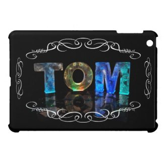 Tom - The Name Tom in 3D Lights (Photograph) iPad Mini Cover