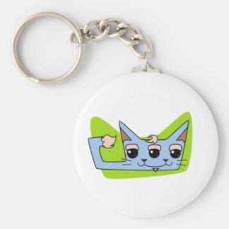 Tom the Toxic Cat Basic Round Button Key Ring
