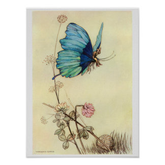 Tom Thumb Fairy Tale Illustration Poster