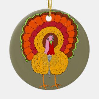 Tom Turkey on Holiday Ornament