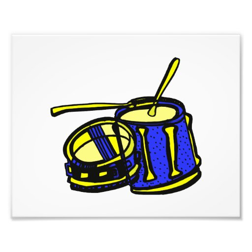 Tom Upside Down Snare Graphic BLue Yellow Photo Print