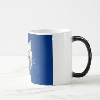 Tom white cat magic mug