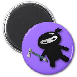 Tomahawk ninja 6 cm round magnet