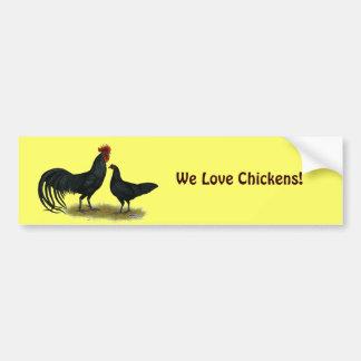 Tomaru Long Crower Chickens Bumper Sticker