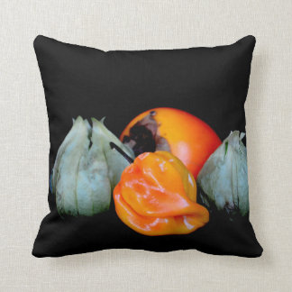 tomatillo pepper persimmon fruit vegetable image cushions