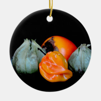 tomatillo pepper persimmon fruit vegetable image ornaments