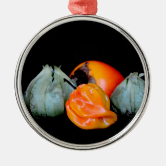 tomatillo pepper persimmon fruit vegetable image christmas tree ornaments