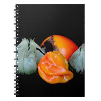 tomatillo pepper persimmon fruit vegetable image note books