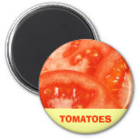 Tomato 6 Cm Round Magnet