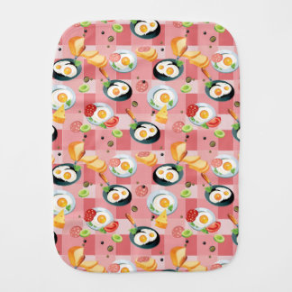 Tomato and Fried Eggs Pattern Baby Burp Cloths