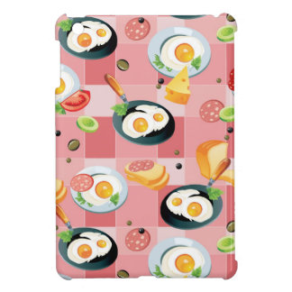 Tomato and Fried Eggs Pattern Cover For The iPad Mini
