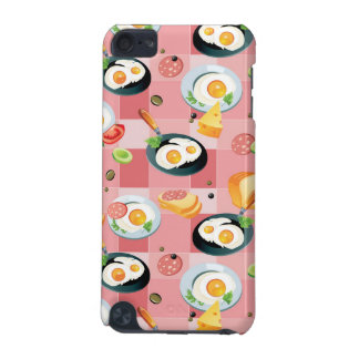 Tomato and Fried Eggs Pattern iPod Touch (5th Generation) Case