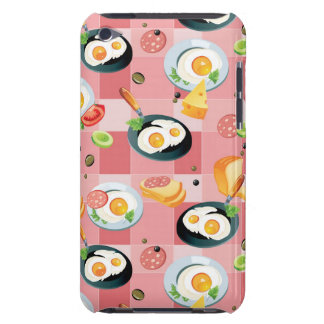 Tomato and Fried Eggs Pattern iPod Touch Covers