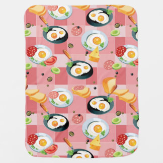 Tomato and Fried Eggs Pattern Swaddle Blankets