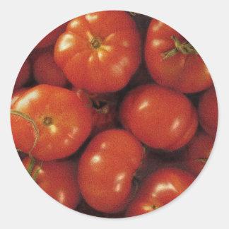 Tomato Art Classic Round Sticker
