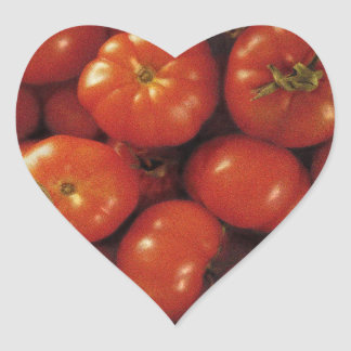 Tomato Art Heart Sticker