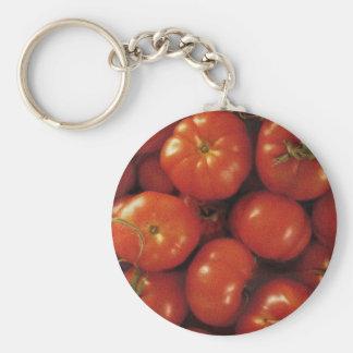Tomato Art Basic Round Button Key Ring