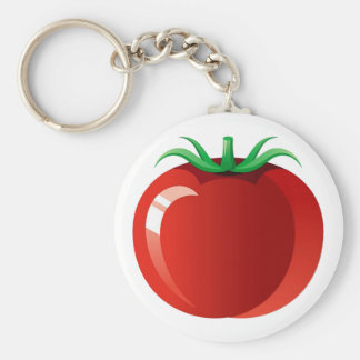 Tomato Basic Round Button Key Ring