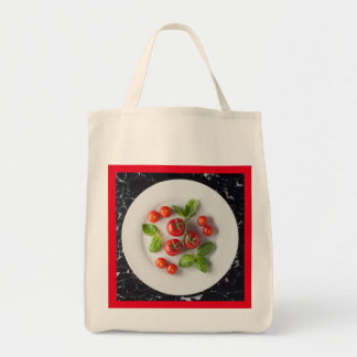 Tomato & Basil Tote Grocery Bag