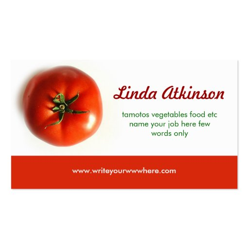 Tomato business card