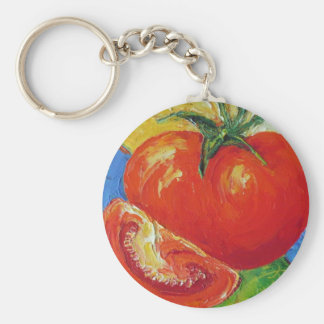 Tomato by Paris Wyatt Llanso Basic Round Button Key Ring