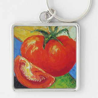 Tomato by Paris Wyatt Llanso Silver-Colored Square Key Ring