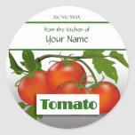 Tomato Canning Custom  Sticker Label