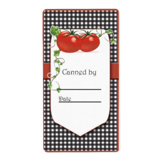 Tomato Canning Jar Label