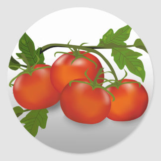 Tomato Canning Round Sticker