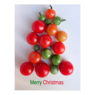 Tomato Christmas Tree Postcard