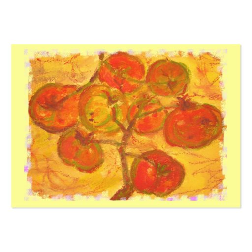 tomato cluster watercolour pack of chubby business cards