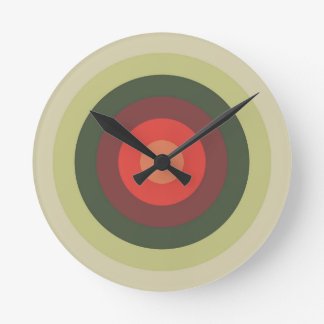 Tomato Colors Round Clock
