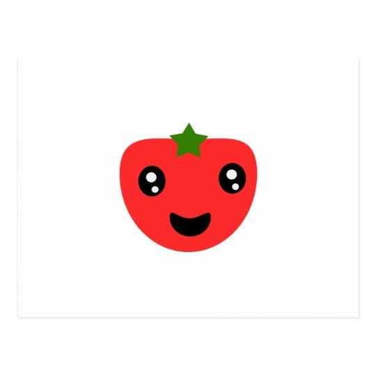 Tomato cute and happy postcard