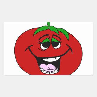 Tomato Face Rectangular Sticker