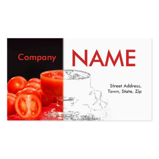 Tomato Fresh Juice Business Card