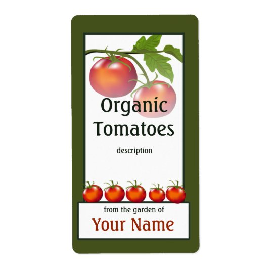 Tomato Gardener Label Shipping Label
