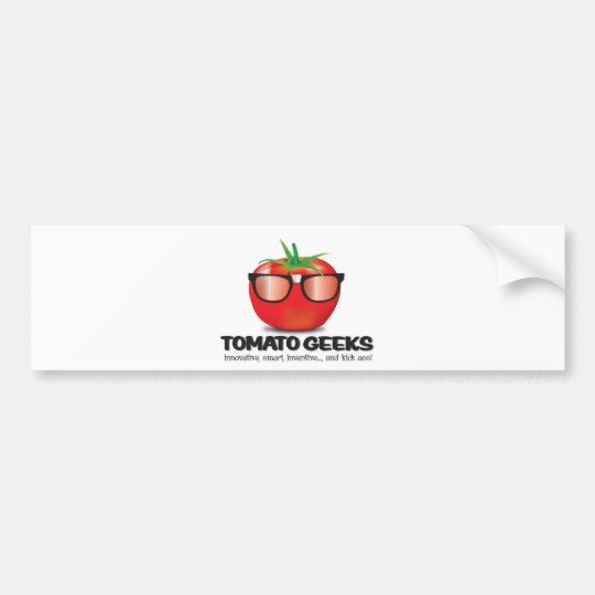 Tomato Geek Stuff Bumper Sticker