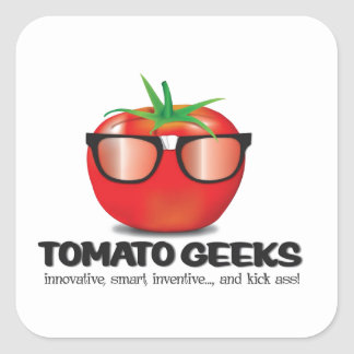 Tomato Geek Stuff Square Sticker