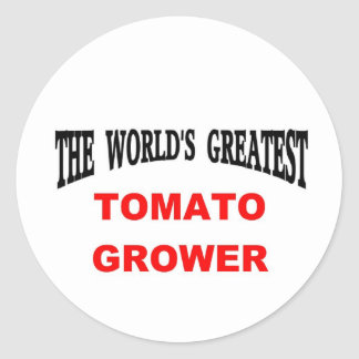 Tomato grower classic round sticker
