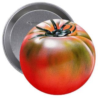 Tomato Huge, 4 Inch Round Button