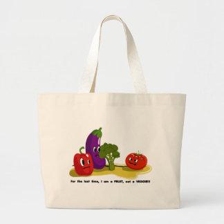Tomato humor large tote bag