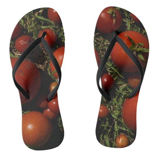 Tomato Obsession Ripe Flip Flops