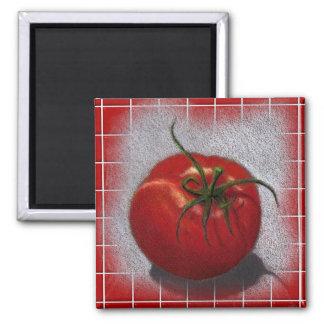 TOMATO ON RED: ART MAGNET