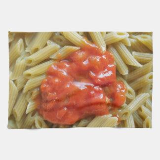 Tomato pasta tea towel