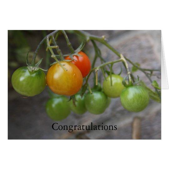 Tomato Plant  Congratulations Card