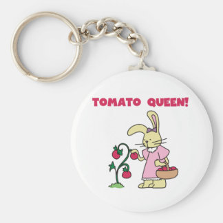 Tomato Queen Basic Round Button Key Ring