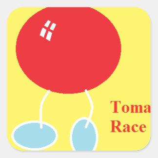 tomato race.png square sticker