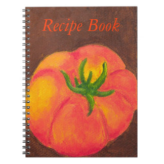 "Tomato ""Recipe Book"" Spiral Notebook"