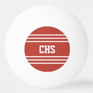 Tomato Red Stripes custom monogram balls